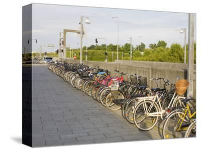 Bicycles Parked Outside a Railway Station, Copenhagen, Denmark