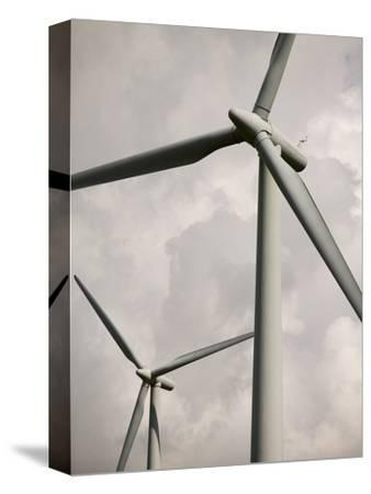 Close Up View of Wind Turbines