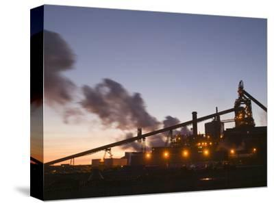 Dusk View of Corus Steelworks at Redcar, United Kingdom
