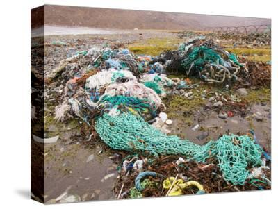 Fishing Nets Discarded and Washed Ashore at Camusnary on the Isle of Skye, Scotland