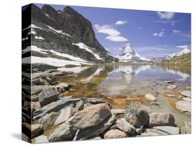 The Matterhorn Reflected in a Mountain Lake Above Zermatt, Switzerland