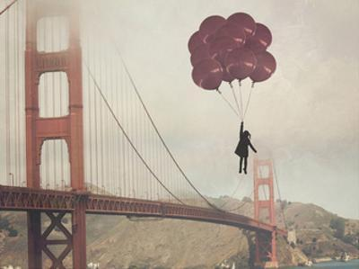 Golden Gate Ballons by Ashley Davis
