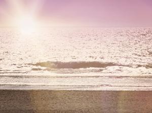 Pink Beach Sunset by Ashley Davis