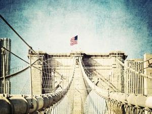 Vintage Brooklyn Bridge by Ashley Davis