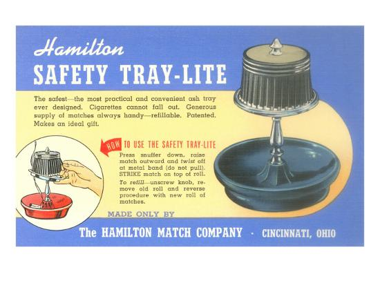 Ashtray Lamp Advertisement--Art Print
