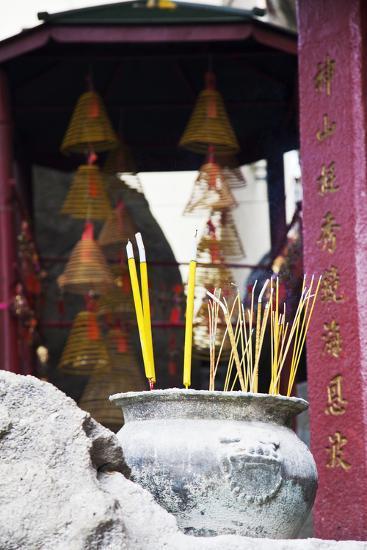 Asia, China, Macau, A-Ma Temple in Macau with Incense Burning-Terry Eggers-Photographic Print
