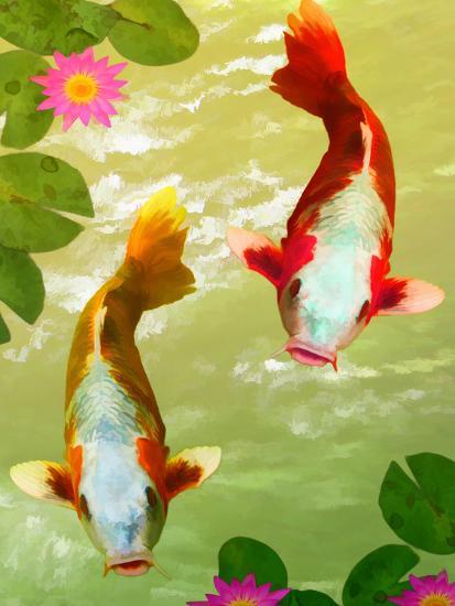 Asia Fish Koi Sea Life-Wonderful Dream-Art Print