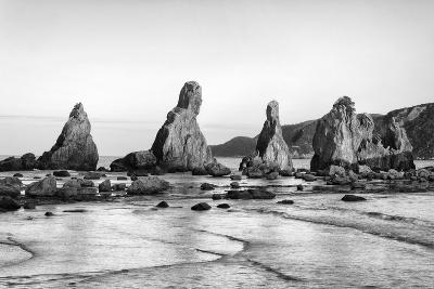 Asia, Japan, Kushimoto. View of Hashigui-Iwa Rocks on Ocean Shore-Dennis Flaherty-Photographic Print