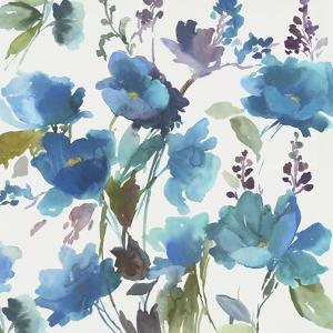 Blue Flower Garden I by Asia Jensen