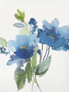 Blue Flower Garden II by Asia Jensen