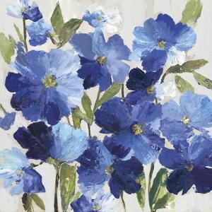 Cobalt Poppies I by Asia Jensen