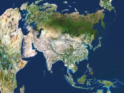 Asia, Satellite Image-PLANETOBSERVER-Photographic Print