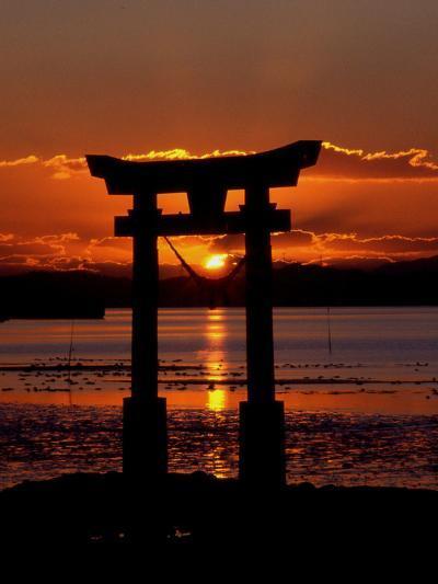 Asia Symbol Sunset Ocean-Wonderful Dream-Art Print