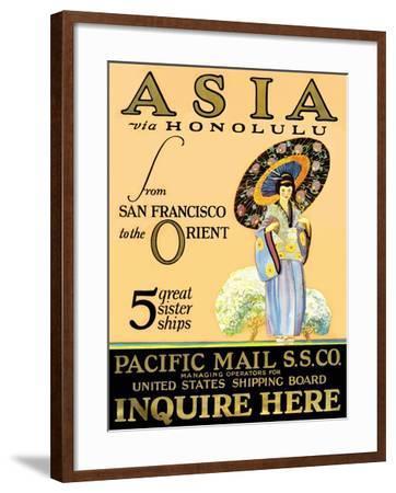 Asia Via Honolulu--Framed Art Print