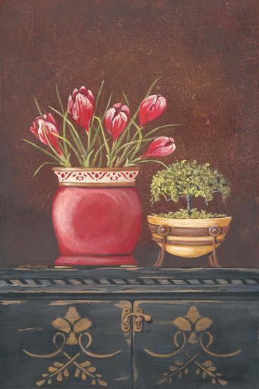 Asiain Red Crocus Floral-Jo Moulton-Art Print