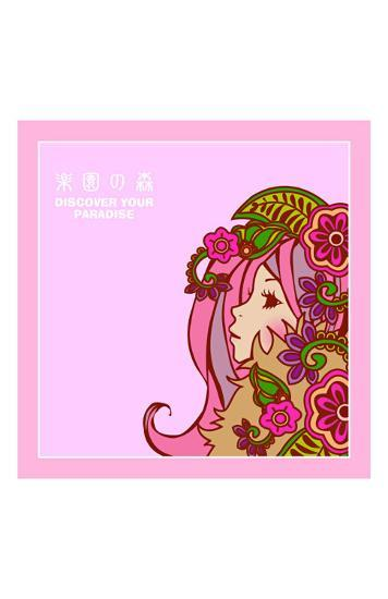 Asian Beauty with Flowers-Noriko Sakura-Art Print