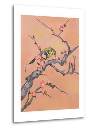 Asian Bird Illustration I-Judy Mastrangelo-Metal Print