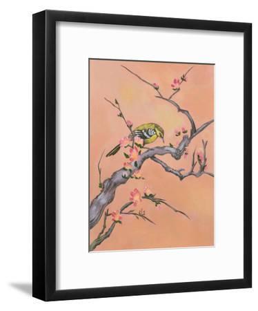 Asian Bird Illustration I-Judy Mastrangelo-Framed Art Print
