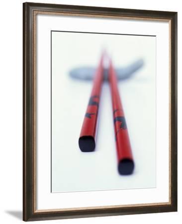 Asian Chopsticks-Peter Medilek-Framed Photographic Print