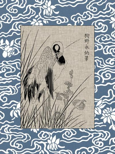 Asian Crane Panel II--Art Print