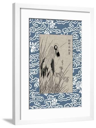 Asian Crane Panel II--Framed Art Print