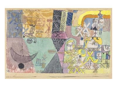 Asian Entertainers-Paul Klee-Art Print