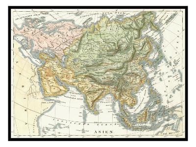 Asian Map--Art Print