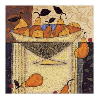 Asian Pears In Bowl-Penny Feder-Art Print