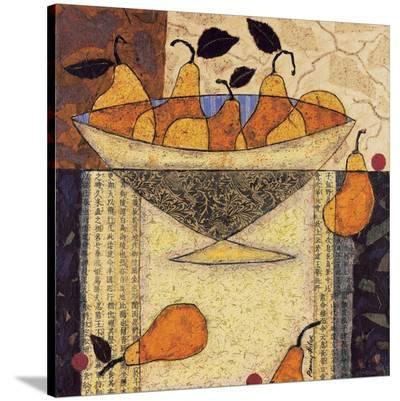 Asian Pears In Bowl-Penny Feder-Stretched Canvas Print