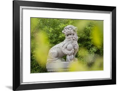 Asian Statue, Bamboo, 22nd District-Rainer Mirau-Framed Photographic Print