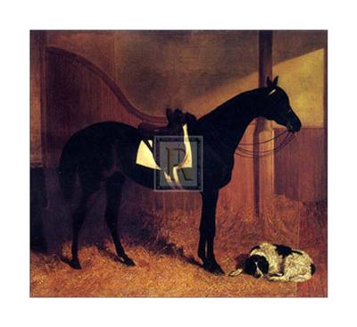 Askar and Roger in a Loose Box-John Frederick Herring I-Art Print