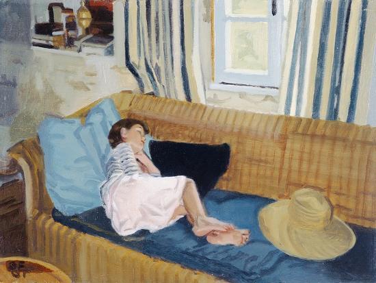 Asleep on the Sofa, 1998-Gillian Furlong-Giclee Print