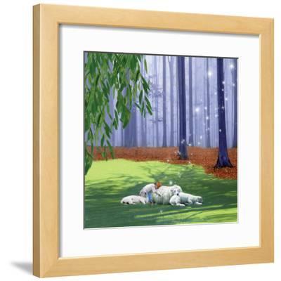 Asleep With Sheep-Nancy Tillman-Framed Art Print