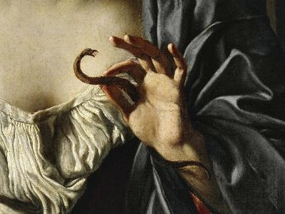 Asp, Detail from Death of Cleopatra, 1675-Francesco Cozza-Giclee Print