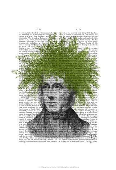 Asparagus Fern Head Plant Head-Fab Funky-Art Print