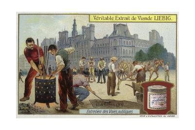 Asphalt--Giclee Print