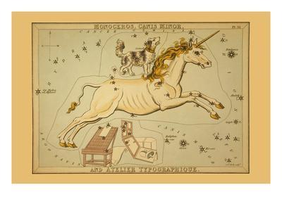 Monoceros, Canis Minor, and Atelier Typographique