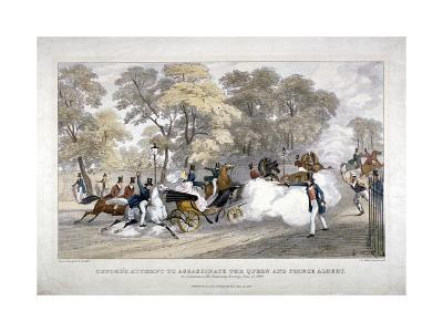 Assassination Attempt Against Queen Victoria, Constitution Hill, Westminster, London, 1840-JR Jobbins-Giclee Print