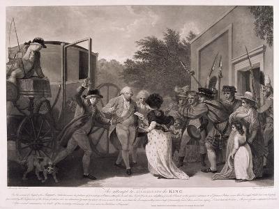 Assassination Attempt on King George III, 1786-Robert Pollard-Giclee Print