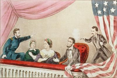 Assassination of Abraham Lincoln-Currier & Ives-Giclee Print