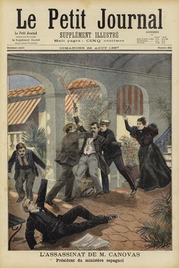 Assassination of Antonio Canovas Del Castillo, Prime Minister of Spain, 8 August 1897--Giclee Print