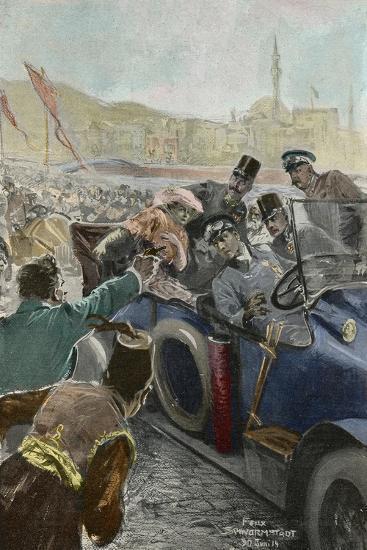 Assassination Of Archduke Franz Ferdinand 1863 1914 In Sarajevo Bosnia 28th June 1914 Giclee Print By Artcom