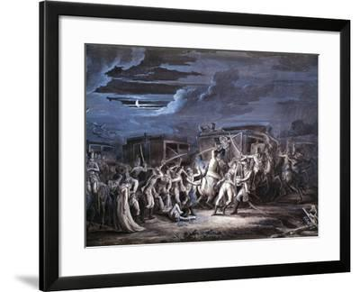 Assassination of French Plenipotentiaries at Rastadt, April 28, 1799--Framed Giclee Print