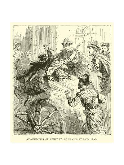 Assassination of Henry IV of France by Ravaillac--Giclee Print