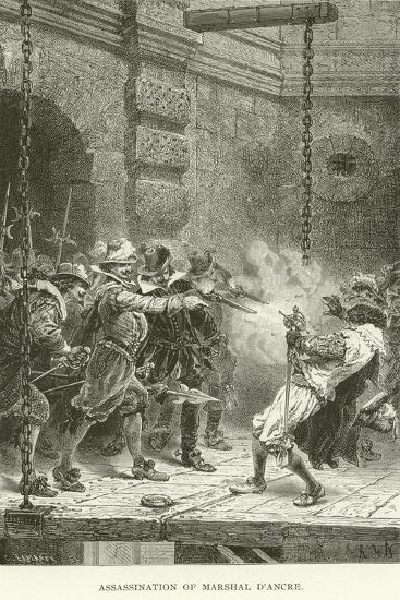 Assassination of Marshal D'Ancre--Giclee Print