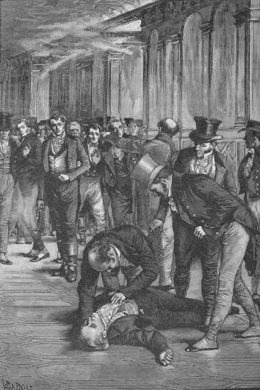 Assassination of Spencer Perceval, 1812 (1906)-Unknown-Giclee Print