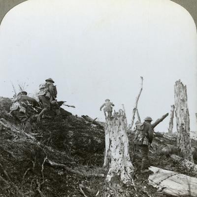 Assault in Trones Wood, Somme, France, World War I, 1916--Photographic Print