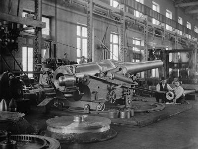 Assembled Cannon in the Foundry of the Washington Navy Yard, 1900--Photo