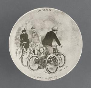 Assiette de la série cyclistes : en Voyage Sans Bagages