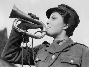 A Bugle Player in Auxiliary Territorial Service by Associated Newspapers